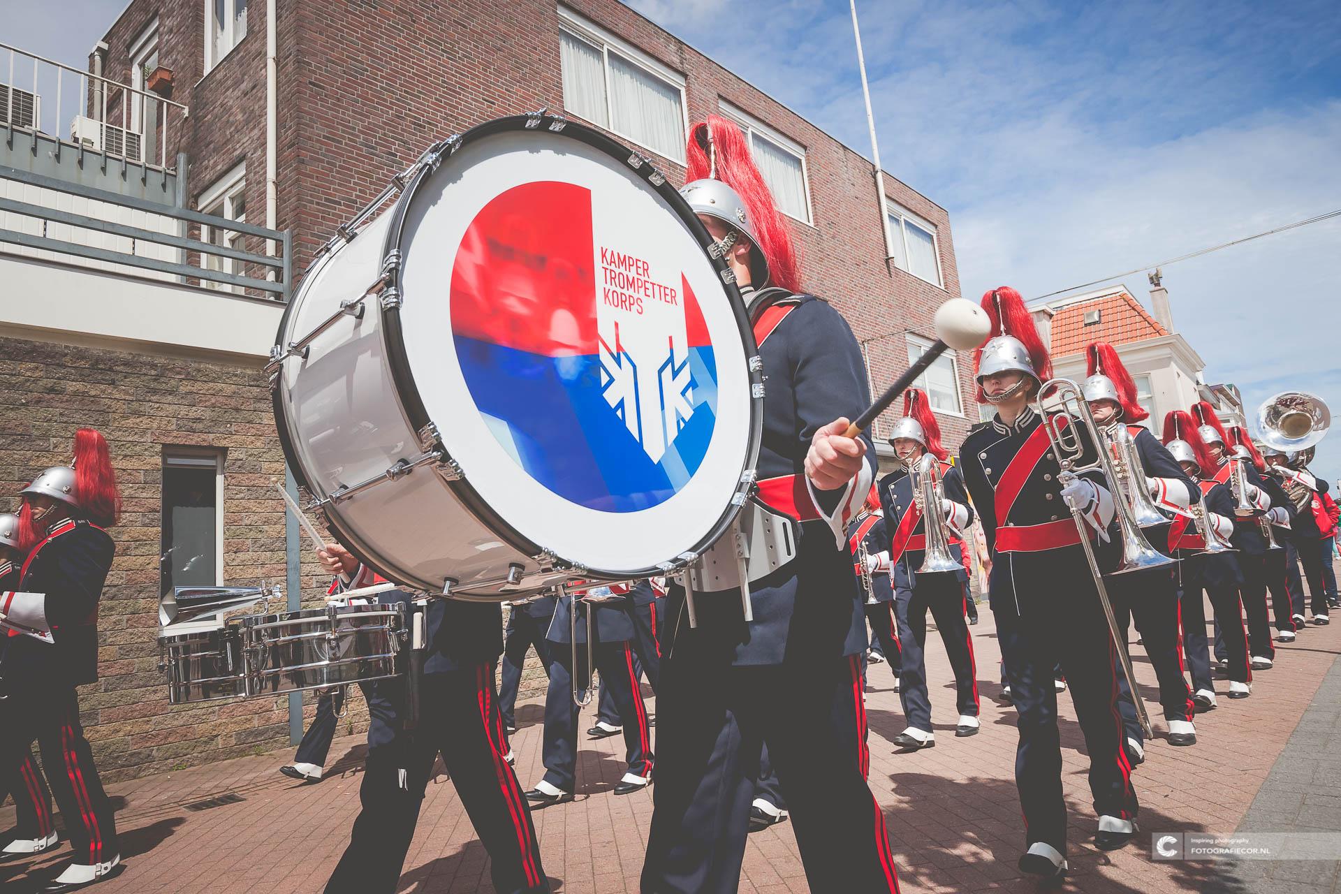 Organisatie | Marchingband | Bassdrum | logo | Streetparade | KTK | Kampen | Fotograaf | Fotografie © fotografiecor.nl